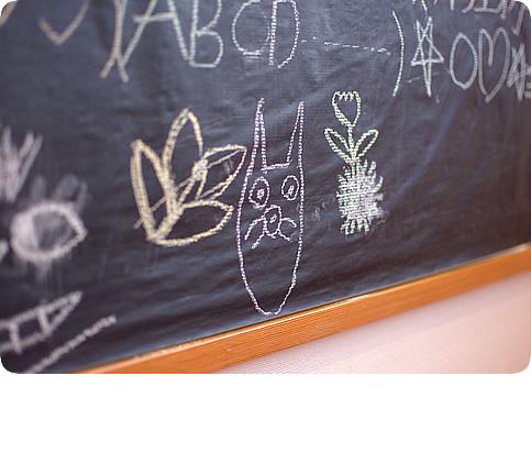 キッズルームの黒板(写真)